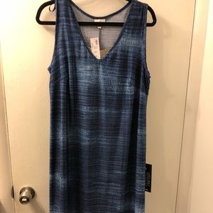 NWT Blue High Low Tank Dress with Accent